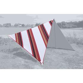 Bent Canvas Set de Toldos Oriental, rojo/blanco